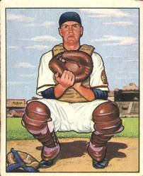 1950 Bowman #56 Del Crandall RC