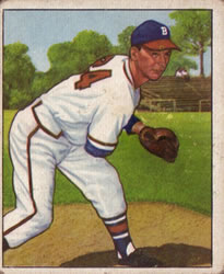 1950 Bowman #57 Vern Bickford
