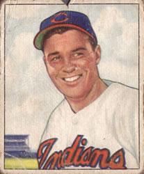 1950 Bowman #93 Gene Bearden