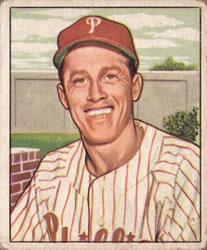 1950 Bowman #205 Mike Goliat RC