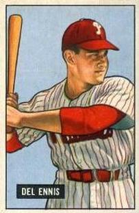 1951 Bowman #4 Del Ennis