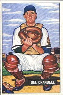 1951 Bowman #20 Del Crandall UER/Name misspelled