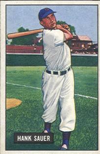 1951 Bowman #22 Hank Sauer