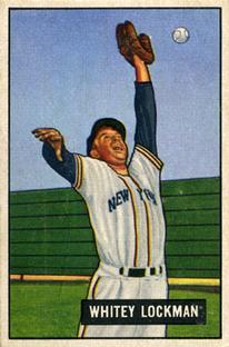 1951 Bowman #37 Whitey Lockman