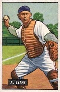 1951 Bowman #38 Al Evans