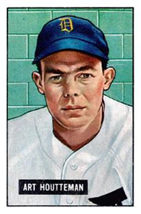 1951 Bowman #45 Art Houtteman