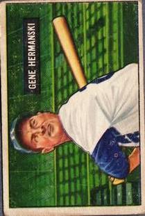 1951 Bowman #55 Gene Hermanski