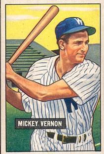 1951 Bowman #65 Mickey Vernon