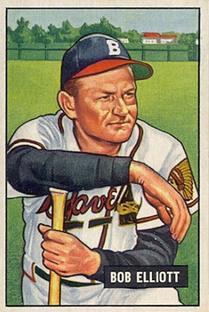1951 Bowman #66 Bob Elliott