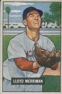1951 Bowman #72 Lloyd Merriman