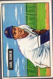 1951 Bowman #83 Carl Scheib