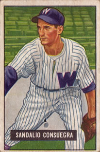 1951 Bowman #96 Sandy Consuegra RC