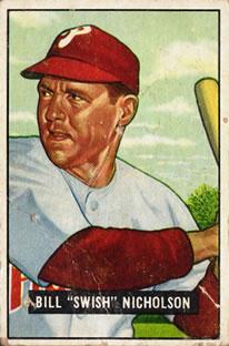 1951 Bowman #113 Bill Nicholson
