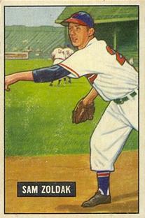 1951 Bowman #114 Sam Zoldak