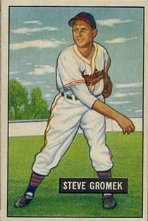 1951 Bowman #115 Steve Gromek