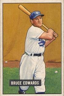 1951 Bowman #116 Bruce Edwards