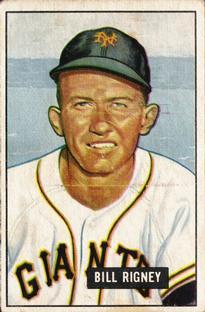 1951 Bowman #125 Bill Rigney