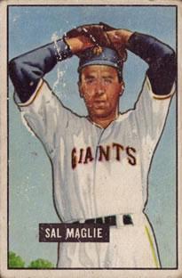 1951 Bowman #127 Sal Maglie RC