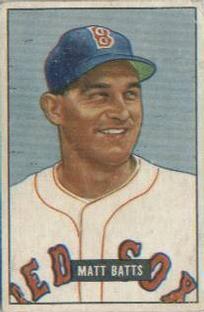 1951 Bowman #129 Matt Batts