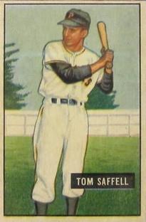 1951 Bowman #130 Tom Saffell RC