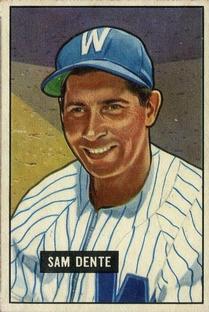 1951 Bowman #133 Sam Dente