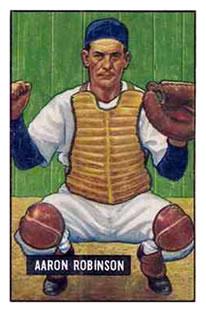 1951 Bowman #142 Aaron Robinson