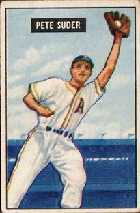 1951 Bowman #154 Pete Suder
