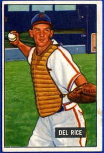 1951 Bowman #156 Del Rice