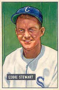 1951 Bowman #159 Eddie Stewart