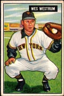 1951 Bowman #161 Wes Westrum RC