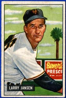 1951 Bowman #162 Larry Jansen
