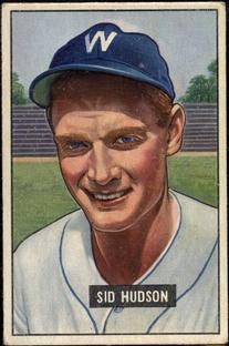 1951 Bowman #169 Sid Hudson