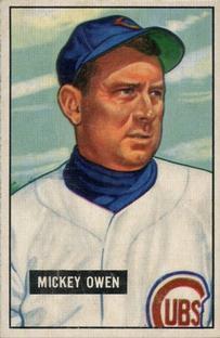 1951 Bowman #174 Mickey Owen