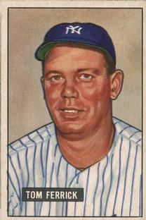 1951 Bowman #182 Tom Ferrick RC