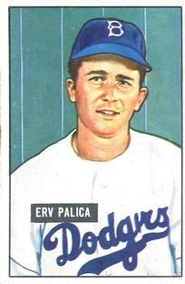 1951 Bowman #189 Erv Palica RC