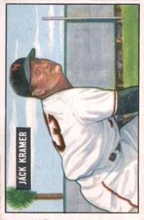 1951 Bowman #200 Jack Kramer