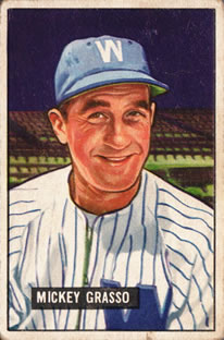 1951 Bowman #205 Mickey Grasso RC