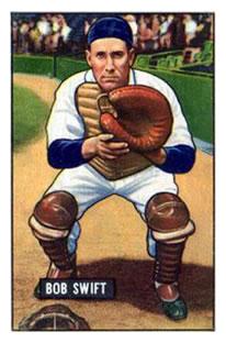 1951 Bowman #214 Bob Swift