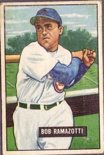 1951 Bowman #247 Bob Ramazzotti RC
