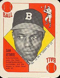 1951 Topps Blue Backs #12 Sam Jethroe