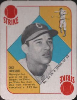 1951 Topps Blue Backs #26 Chico Carrasquel RC