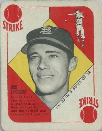 1951 Topps Blue Backs #33 Don Lenhardt RC