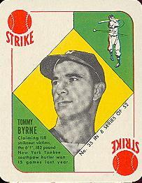 1951 Topps Blue Backs #35 Tommy Byrne RC