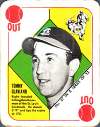 1951 Topps Red Backs #47 Tommy Glaviano RC