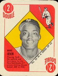 1951 Topps Red Backs #50 Monte Irvin RC