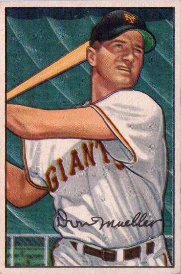 1952 Bowman #18 Don Mueller