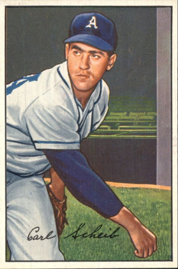 1952 Bowman #46 Carl Scheib
