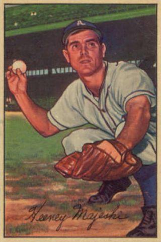 1952 Bowman #58 Hank Majeski