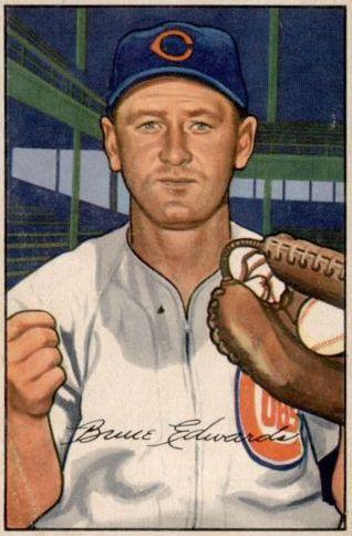 1952 Bowman #88 Bruce Edwards