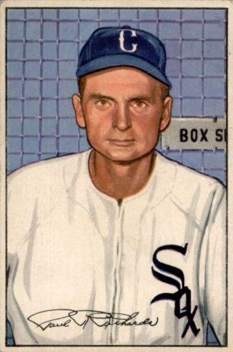 1952 Bowman #93 Paul Richards MG